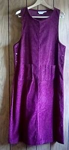 Vintage made in USA Corduroy dress modest
